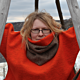 ArcticQueen® Woollen Infinity Scarves - brown/orange
